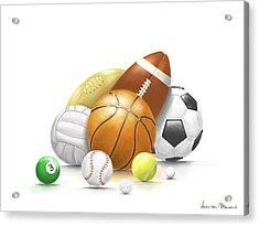 Balls Acrylic Print by Veronica Minozzi
