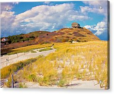 Acrylic Print featuring the photograph Ballston Beach Dunes Photo Art by Constantine Gregory