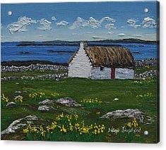 Ballyconneelly Cottage Connemara Ireland Acrylic Print