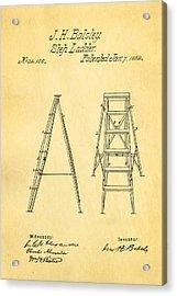 Balsley Step Ladder Patent Art 1862 Acrylic Print by Ian Monk