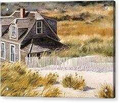 Balston Beach House Acrylic Print by Karol Wyckoff