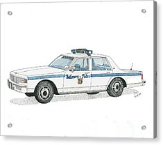 Baltimore City Police Vehicle Acrylic Print by Calvert Koerber