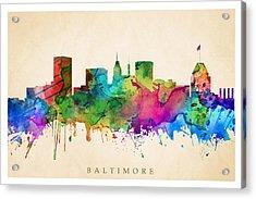 Baltimore Cityscape Acrylic Print