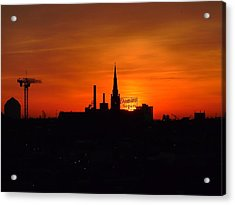 Baltimore Dawn Acrylic Print by Robert Geary