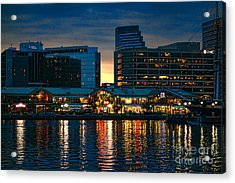 Baltimore Harborplace Light Street Pavilion Acrylic Print by Olivier Le Queinec