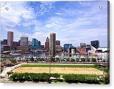 Baltimore Inner Harbor Beach - Generic Acrylic Print by Olivier Le Queinec