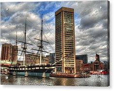 Baltimore Inner Harbor Acrylic Print by Deborah Smolinske