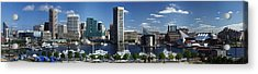 Baltimore Inner Harbor Panorama Acrylic Print