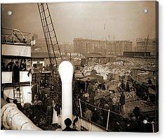 Baltimore, Maryland, Unloading Banana Steamer, Harbors Acrylic Print by Litz Collection