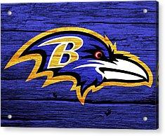 Baltimore Ravens Barn Door Acrylic Print