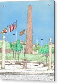 Baltimore Shot Tower Acrylic Print by Calvert Koerber