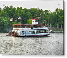 Acrylic Print featuring the photograph Bama Belle On The Black Warrior River by Ben Shields