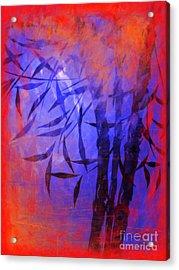 Bamboo Blue Acrylic Print