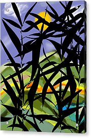 Bamboo Acrylic Print by Christine Fournier