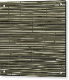 Bamboo Fence - Gray And Beige Acrylic Print by Saya Studios