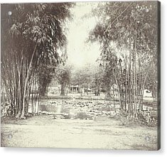 Bamboo Garden And Pond With A House, Anonymous Acrylic Print