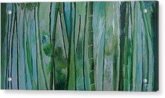 Bamboo Jungle Acrylic Print by Jessie Nolan