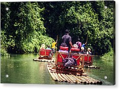 Bamboo River Rafting Acrylic Print by Melanie Lankford Photography