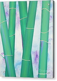 Bamboo Tryptych 2 Acrylic Print