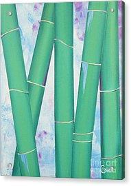 Bamboo Tryptych 3 Acrylic Print