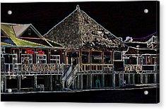 Bamboo Willies In Neon Acrylic Print