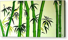 Bamboos Acrylic Print by Sonali Kukreja