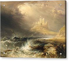 Bamborough Castle Acrylic Print by William Andrews Nesfield