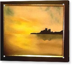 Bamburgh Castle Acrylic Print by Audrey Pollitt