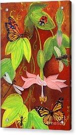 Acrylic Print featuring the painting Bananapoka by Anna Skaradzinska