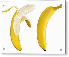 Bananas On White Acrylic Print by Lew Robertson