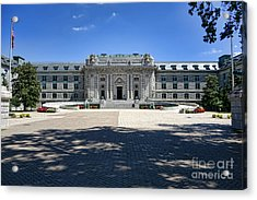 Bancroft Hall Acrylic Print by Olivier Le Queinec