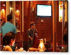 Band At Palaad Tawanron Restaurant - Chiang Mai Thailand - 01132 Acrylic Print