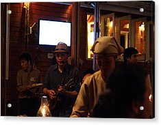 Band At Palaad Tawanron Restaurant - Chiang Mai Thailand - 01134 Acrylic Print by DC Photographer