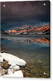 Band Of Light Over Deer Creek. Acrylic Print