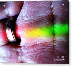 Band Of Rainbow Forensics Acrylic Print by John King