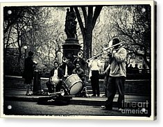 Band On Union Square New York City Acrylic Print by Sabine Jacobs