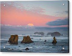 Bandon Beach Sunrise Acrylic Print by Mike  Walker