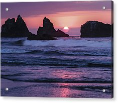 Bandon Beach Sunset Acrylic Print by Jean Noren