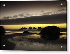 Bandon By The Sea Acrylic Print by Jean-Jacques Thebault