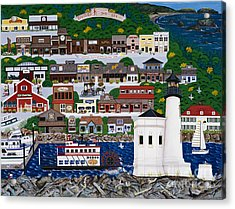 Bandon By The Sea Acrylic Print by Jennifer Lake