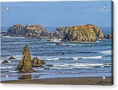 Acrylic Print featuring the tapestry - textile Bandon Beach Landscape by Dennis Bucklin