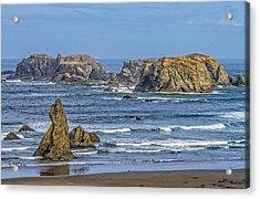 Bandon Beach Landscape Acrylic Print by Dennis Bucklin