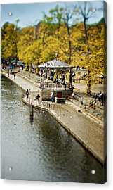 Bandstand In Chester Acrylic Print by Meirion Matthias
