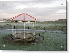 Acrylic Print featuring the photograph Bandstand In Winter by Jeremy Voisey