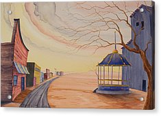 Acrylic Print featuring the painting Bandstand by Scott Kirby