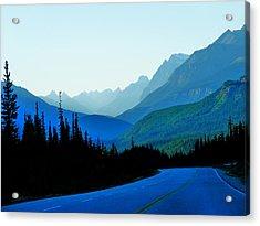 Acrylic Print featuring the photograph Banff Jasper Blue by Blair Wainman