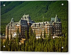 Banff Springs Hotel Acrylic Print by Richard Farrington