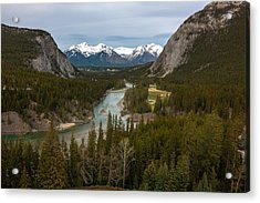 Banff Springs In Spring Acrylic Print