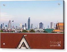 Bangkok Modern Vs Traditional Acrylic Print