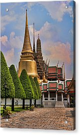Bangkok Palace Temple 3 Acrylic Print by David Smith